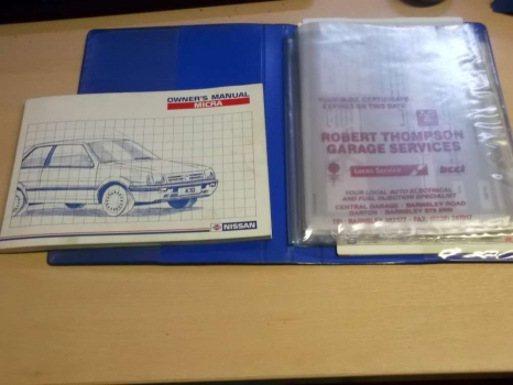 NISSAN MICRA 1982-1992 OWNERS MANUAL