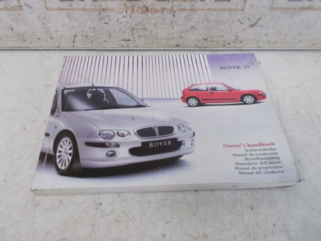 ROVER 25 1999-2003 OWNERS MANUAL