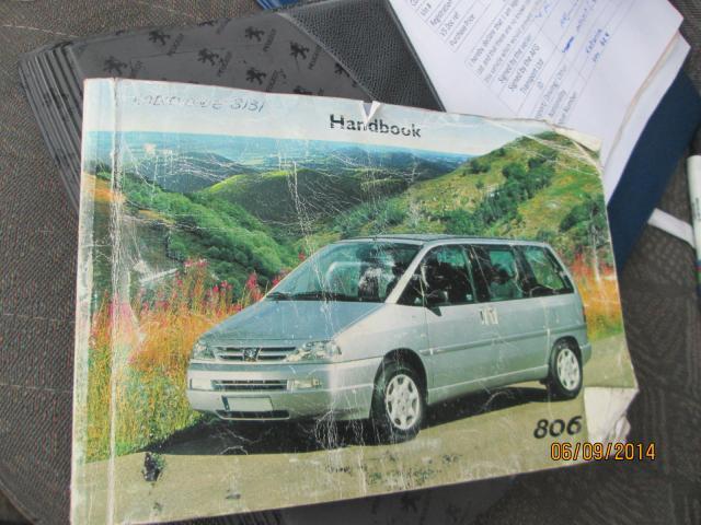 PEUGEOT 806 GLX HDI 1999-2002 OWNERS MANUAL