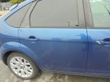 FORD FOCUS 5 DOOR HATCHBACK 2010 DOOR BARE (REAR DRIVER SIDE) BLUE 2010FORD FOCUS 2010 5 DOOR O/S REAR DOOR BARE (REAR DRIVER SIDE) BLUE DA3