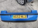 VOLKSWAGEN POLO 3 DOOR HATCHBACK 2002-2008 BUMPER (REAR) BLUE 2002,2003,2004,2005,2006,2007,2008VOLKSWAGEN VW POLO 9N REAR BUMPER SUMMER BLUE LA5F 2002-2005  LA5F