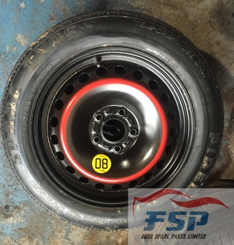 FORD FOCUS ZETEC CLIMATE 16V 5 DOOR HATCHBACK 2004-2011 SPACE SAVER WHEEL 2004,2005,2006,2007,2008,2009,2010,2011FORD FOCUS, C MAX, MONDEO, VOLVO,  SPACE SAVER WHEEL PIRELLI TYRE 125 85 16