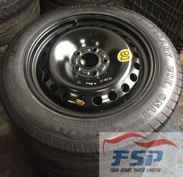 FORD FOCUS C-MAX ZETEC MPV (MULTI-PURPOSE VEH) 2003-2007 SPACE SAVER WHEEL 2003,2004,2005,2006,2007FORD FOCUS C-MAX, FOCUS, MONDEO, VOLVO SPACE SAVER WHEEL GOOD YEAR TYRE 1258516