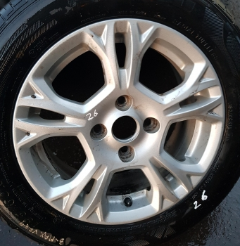 FORD FIESTA ZETEC TDCI 70 HATCHBACK 5 DOOR 2008-2012 ALLOY WHEEL - SINGLE 2008,2009,2010,2011,2012FORD FIESTA 2009 10 11 12 13 14-2015 ALLOY WHEEL & TYRE,195 60 15, 10 SPOKE, 15
