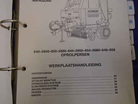 NEW HOLLAND SERVICE MANUAL 640/4/8,650/4/8,5850/80,5950/80 POSSIBLY
