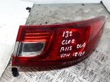 OUTER TAIL LIGHT (DRIVER SIDE) RENAULT CLIO IV DYNAMIQUE 1.2 PET 7 4DR 2013  2013 265502631r